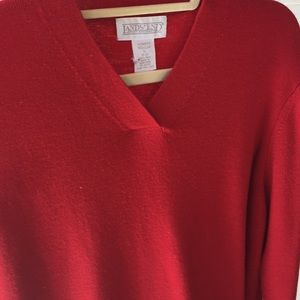 Lands End wool tunic sweater